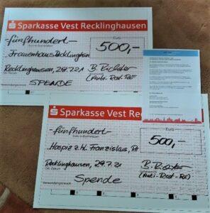 Anti Rost Recklinghausen gibt seine Spenden weiter